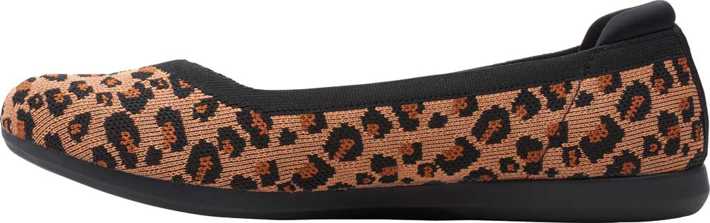 Women's Clarks Carly Wish Ballet Flat, Dark Tan/Black Interest Knit, large, image 3