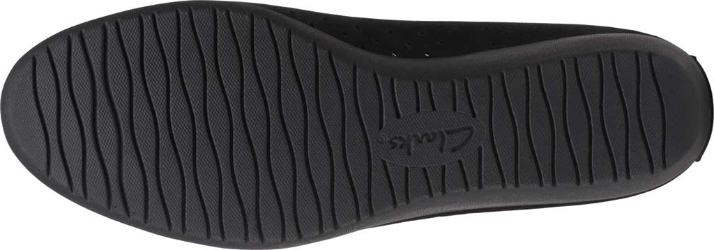 Women's Clarks Elin Sun Perforated Wedge Heel, Black Perforated Suede, large, image 6