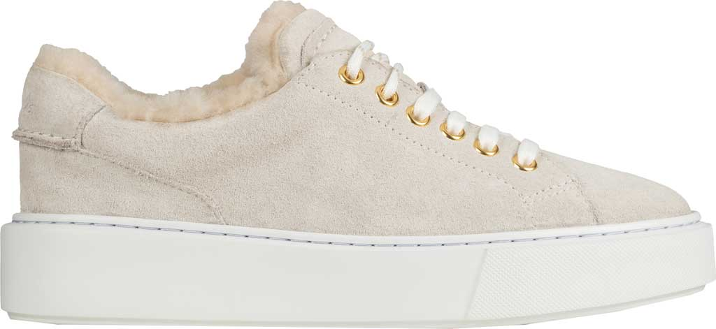 Women's Clarks Hero Lite Lace Platform Sneaker, White Suede, large, image 2