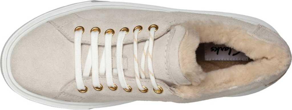 Women's Clarks Hero Lite Lace Platform Sneaker, White Suede, large, image 4