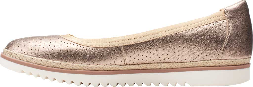 Women's Clarks Serena Kellyn Ballet Flat, Metallic Perforated Leather, large, image 3