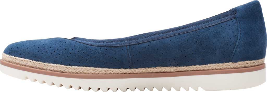 Women's Clarks Serena Kellyn Ballet Flat, Navy Perforated Suede, large, image 3