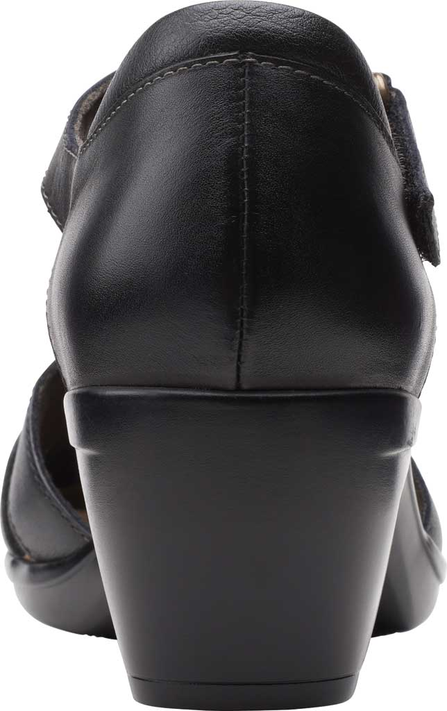 Women's Clarks Emily Daisy Ankle Strap Closed Toe Sandal, Black Leather Combination, large, image 4