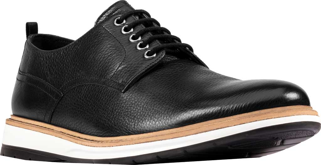 Men's Clarks Chantry Walk Plain Toe Oxford, Black Leather, large, image 1