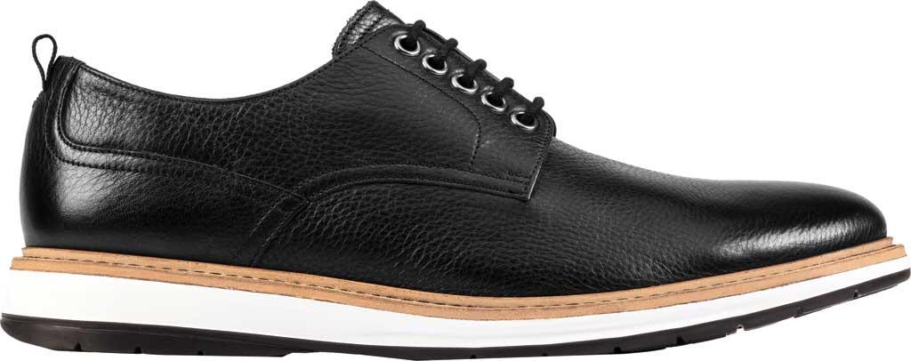 Men's Clarks Chantry Walk Plain Toe Oxford, Black Leather, large, image 2