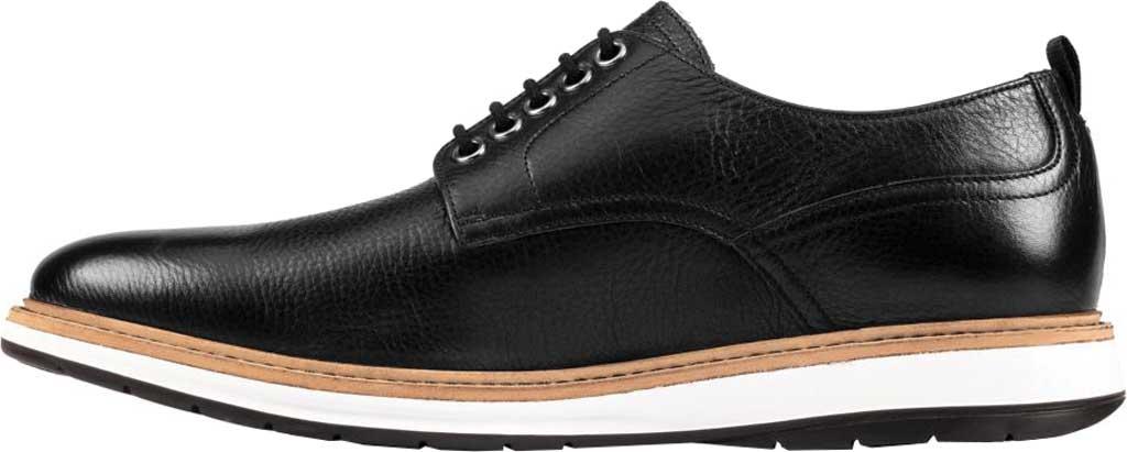 Men's Clarks Chantry Walk Plain Toe Oxford, Black Leather, large, image 3