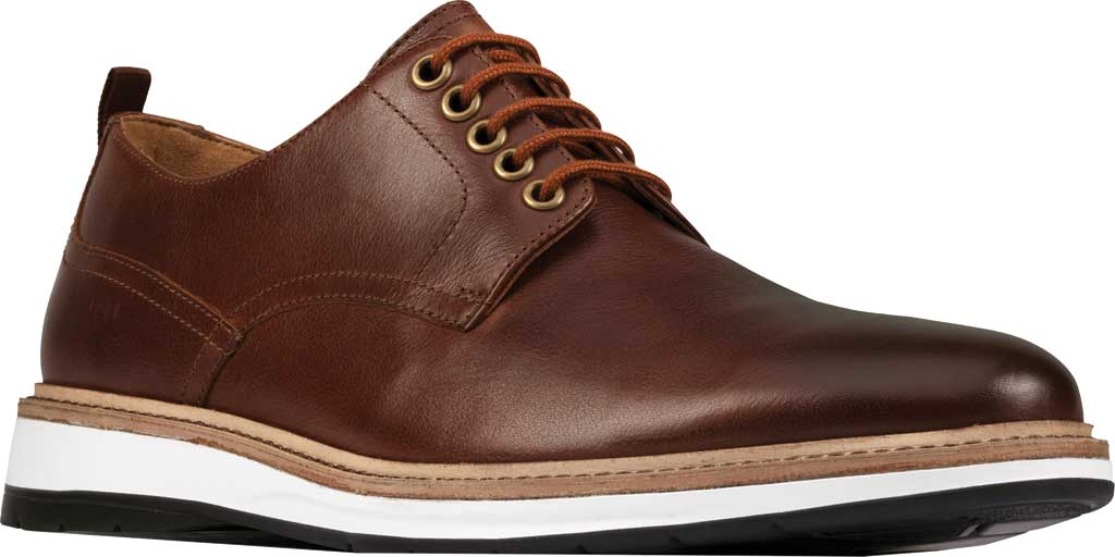Men's Clarks Chantry Walk Plain Toe Oxford, Dark Tan Leather, large, image 1