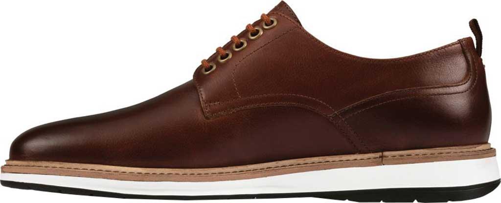 Men's Clarks Chantry Walk Plain Toe Oxford, Dark Tan Leather, large, image 3