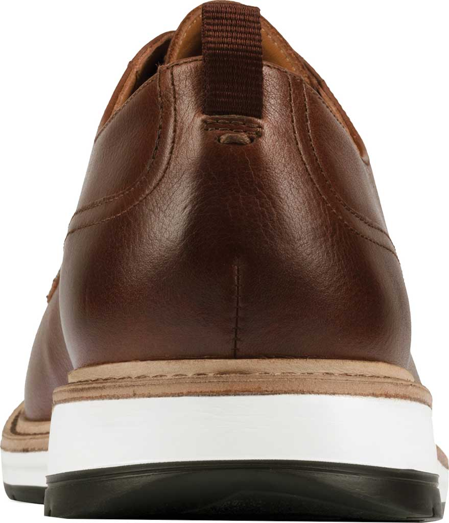 Men's Clarks Chantry Walk Plain Toe Oxford, Dark Tan Leather, large, image 4