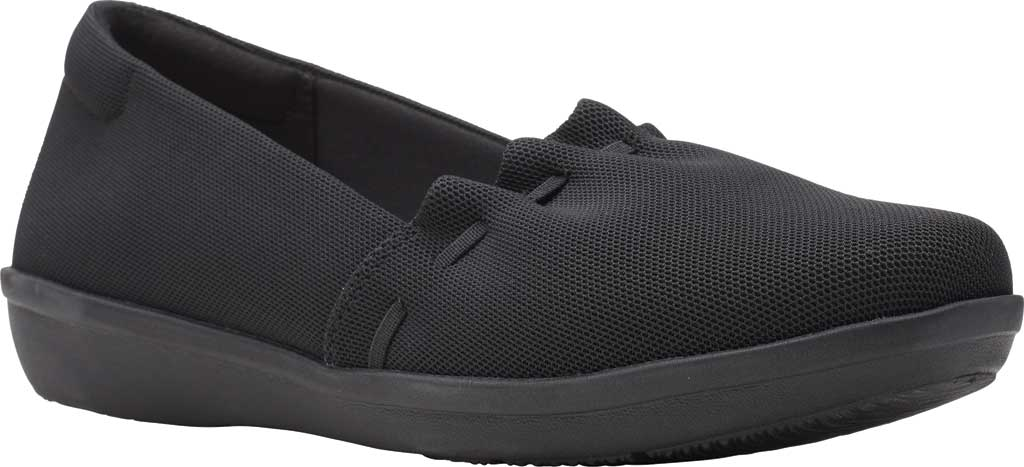 Women's Clarks Ayla Shine Slip On Sneaker, Black Textile, large, image 1