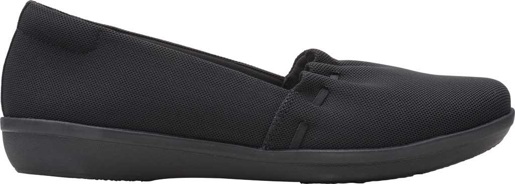 Women's Clarks Ayla Shine Slip On Sneaker, Black Textile, large, image 2