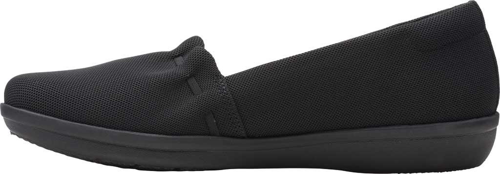 Women's Clarks Ayla Shine Slip On Sneaker, Black Textile, large, image 3