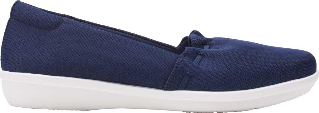Women's Clarks Ayla Shine Slip On Sneaker, Navy Sparkle Textile, large, image 2