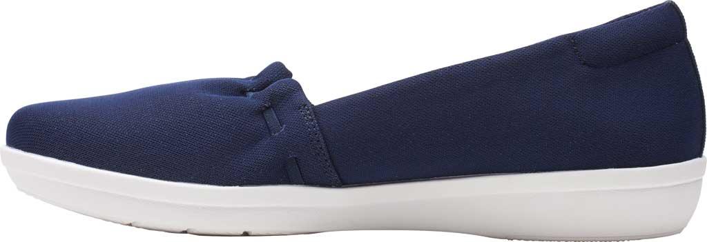 Women's Clarks Ayla Shine Slip On Sneaker, Navy Sparkle Textile, large, image 3