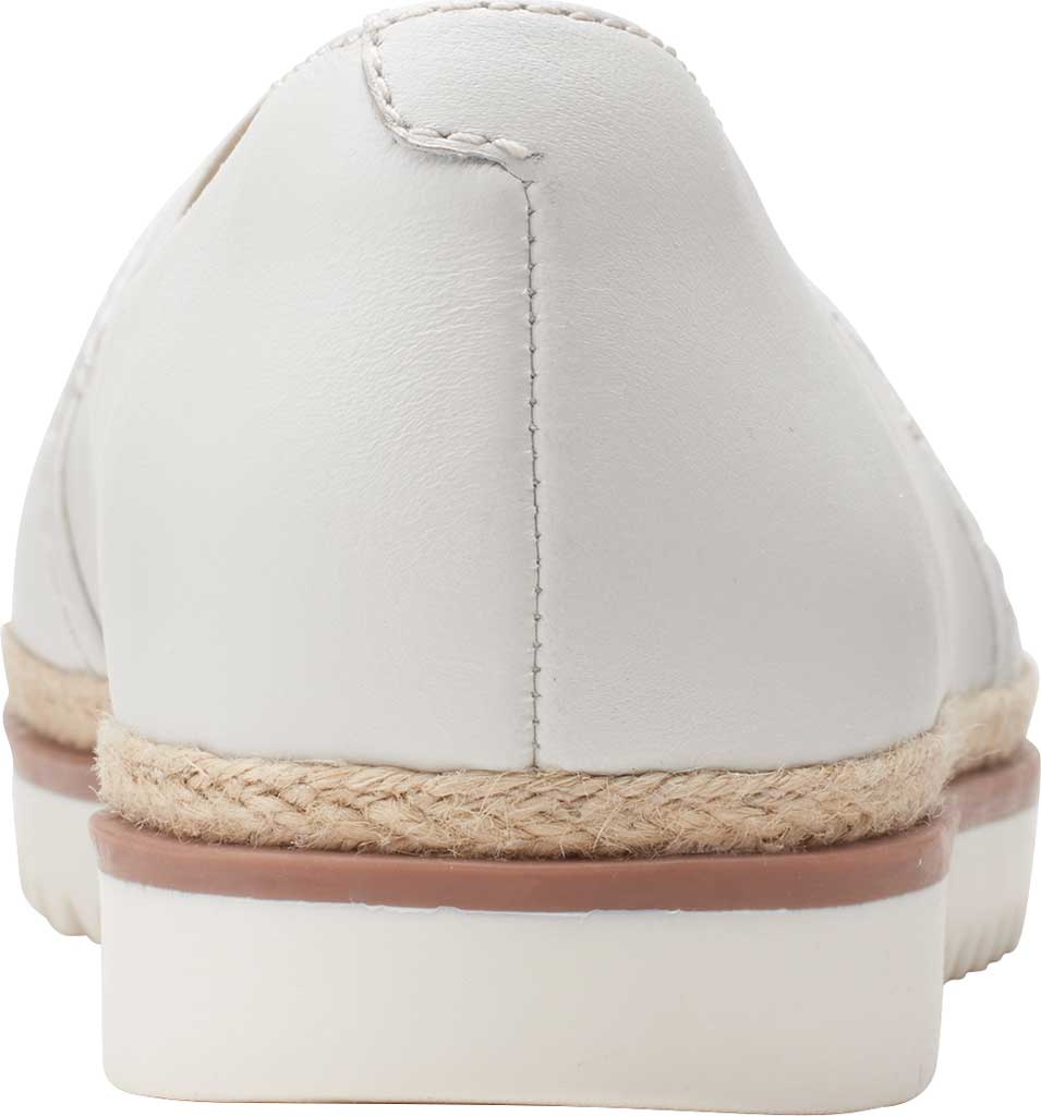 Women's Clarks Serena Paige Slip On Flat, White Leather, large, image 4