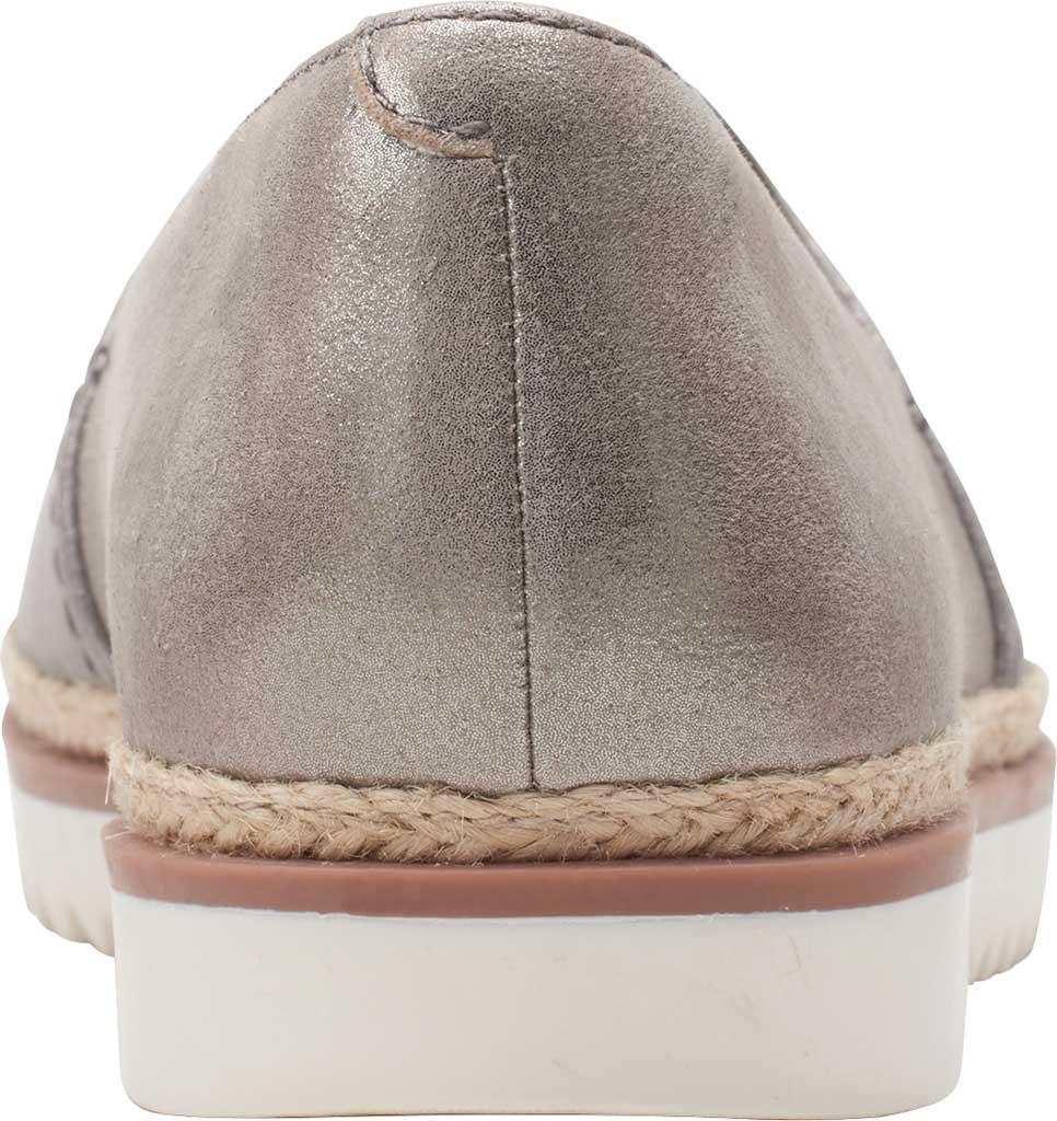 Women's Clarks Serena Paige Slip On Flat, Metallic Combination Leather, large, image 4