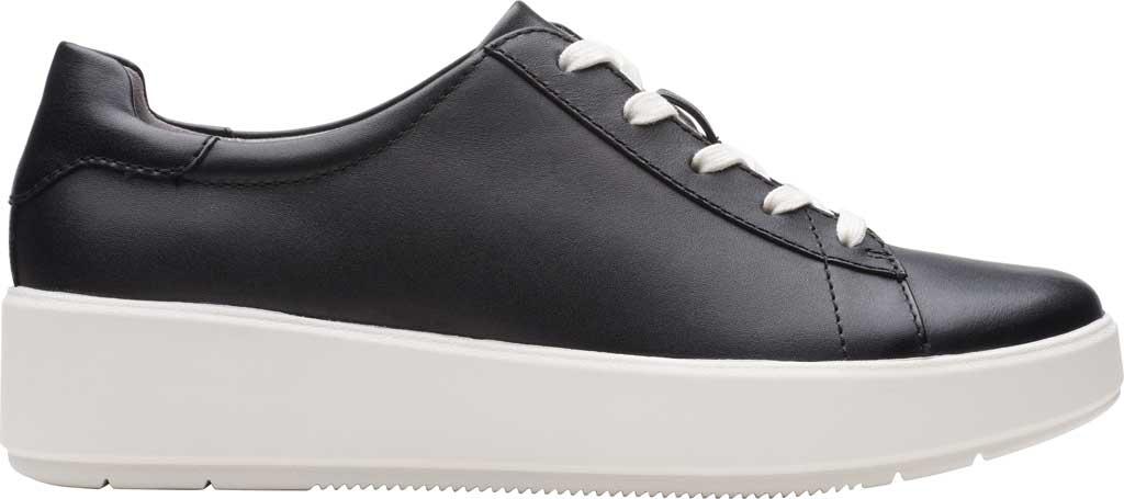 Women's Clarks Layton Pace Platform Sneaker, Black Leather, large, image 2