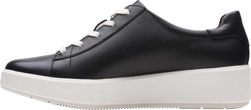 Women's Clarks Layton Pace Platform Sneaker, Black Leather, large, image 3