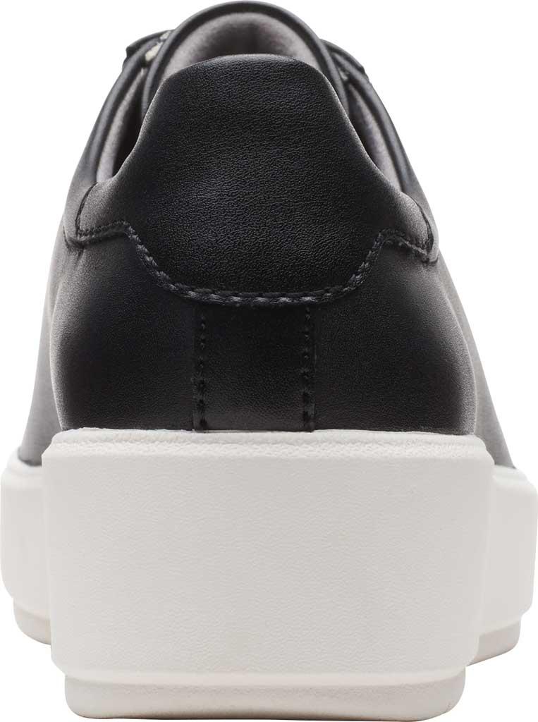 Women's Clarks Layton Pace Platform Sneaker, Black Leather, large, image 4
