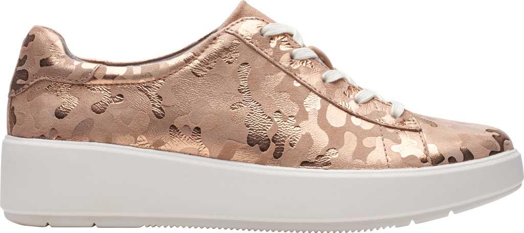 Women's Clarks Layton Pace Platform Sneaker, Rose Gold Suede Interest, large, image 2