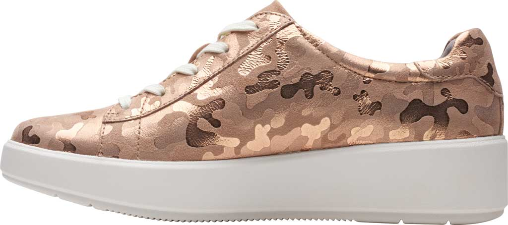 Women's Clarks Layton Pace Platform Sneaker, Rose Gold Suede Interest, large, image 3