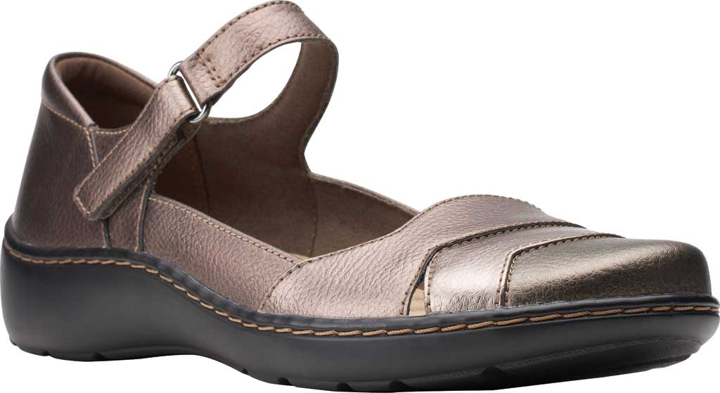 Women's Clarks Cora Abby Mary Jane, Metallic Synthetic, large, image 1