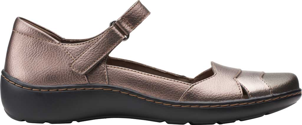 Women's Clarks Cora Abby Mary Jane, Metallic Synthetic, large, image 2