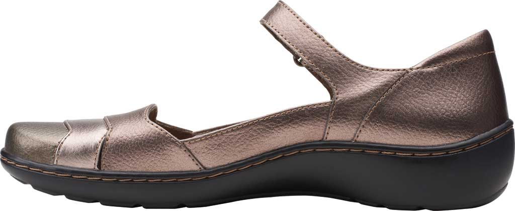 Women's Clarks Cora Abby Mary Jane, Metallic Synthetic, large, image 3