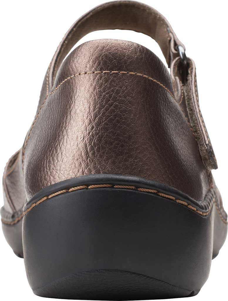 Women's Clarks Cora Abby Mary Jane, Metallic Synthetic, large, image 4