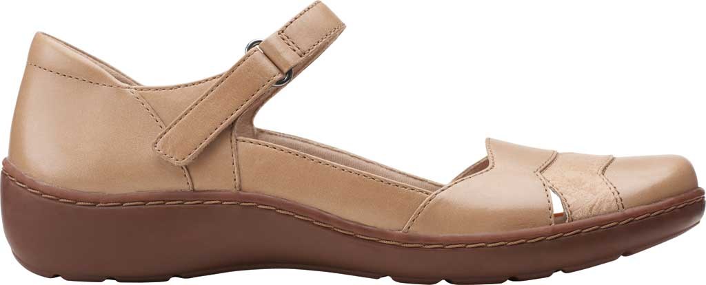 Women's Clarks Cora Abby Mary Jane, Sand Combination Synthetic/Leather, large, image 2