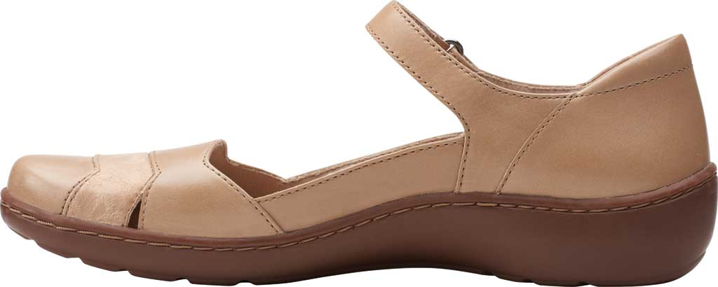 Women's Clarks Cora Abby Mary Jane, Sand Combination Synthetic/Leather, large, image 3