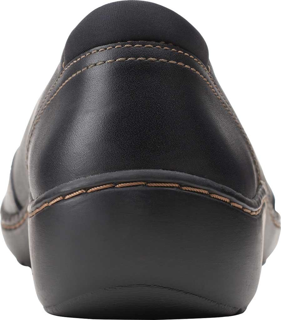 Women's Clarks Cora Eliza Ballet Flat, Black Leather, large, image 4