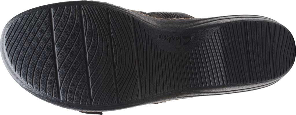 Women's Clarks Merliah Karli Wedge Slide, Black Leather, large, image 6