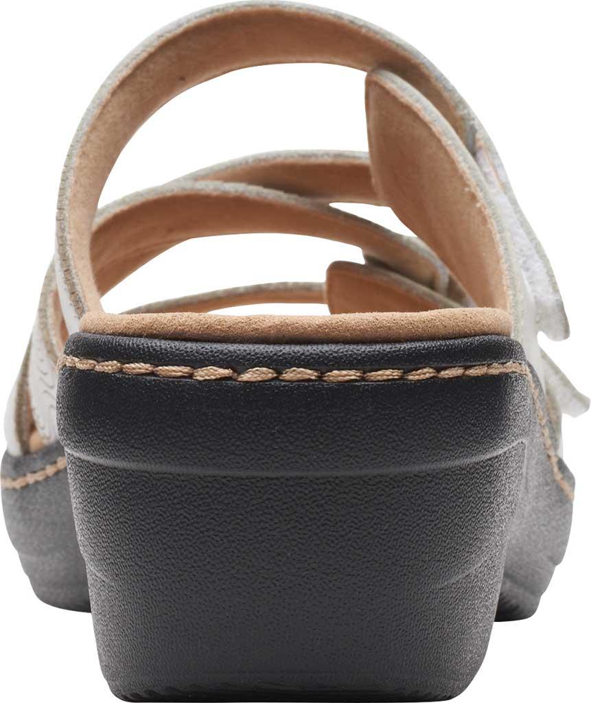 Women's Clarks Merliah Karli Wedge Slide, White Leather, large, image 4