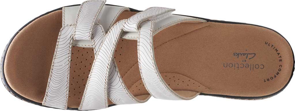 Women's Clarks Merliah Karli Wedge Slide, White Leather, large, image 5