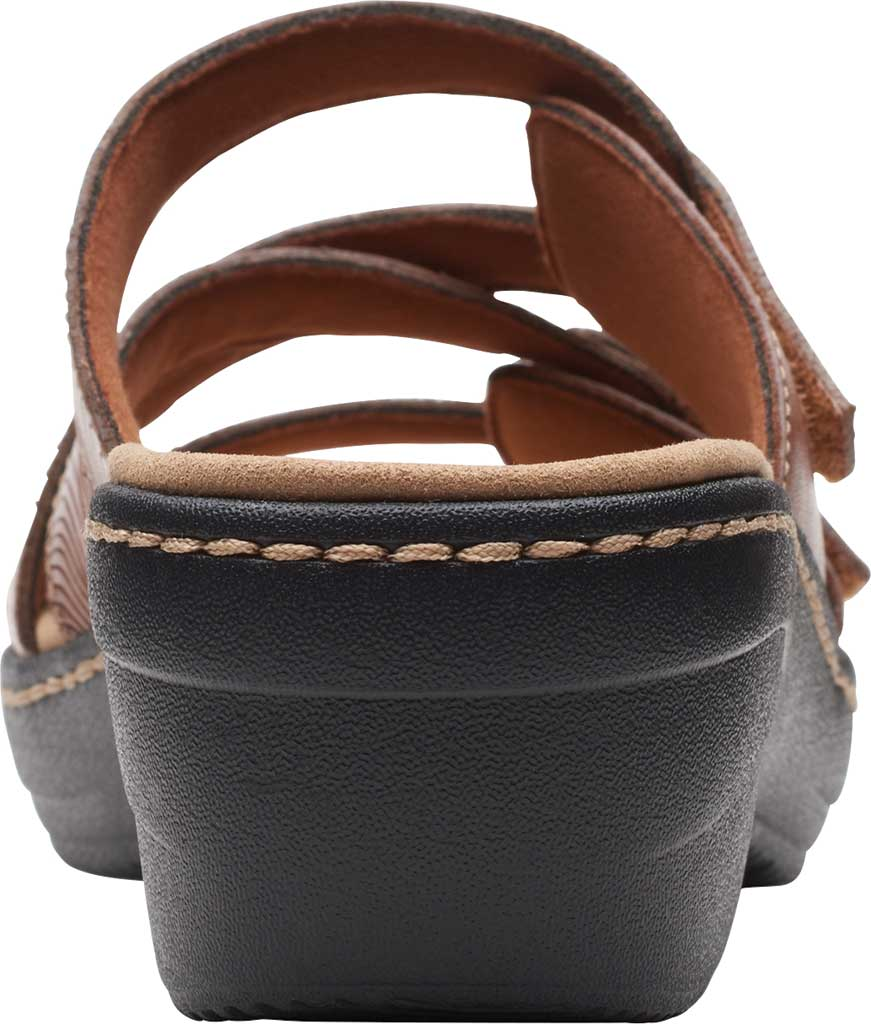 Women's Clarks Merliah Karli Wedge Slide, Tan Leather, large, image 4