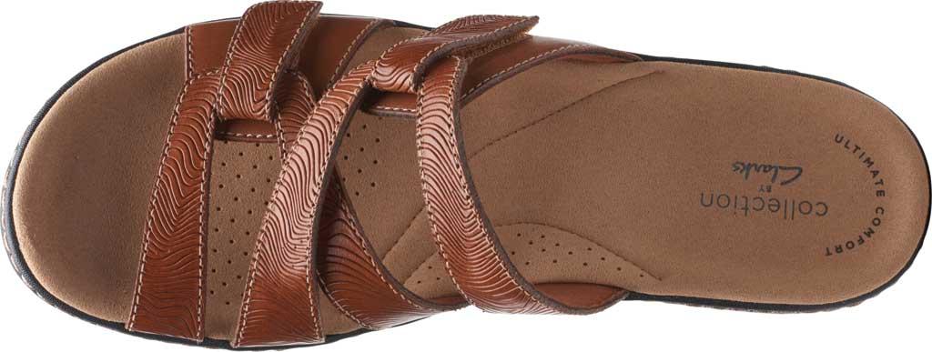 Women's Clarks Merliah Karli Wedge Slide, Tan Leather, large, image 5