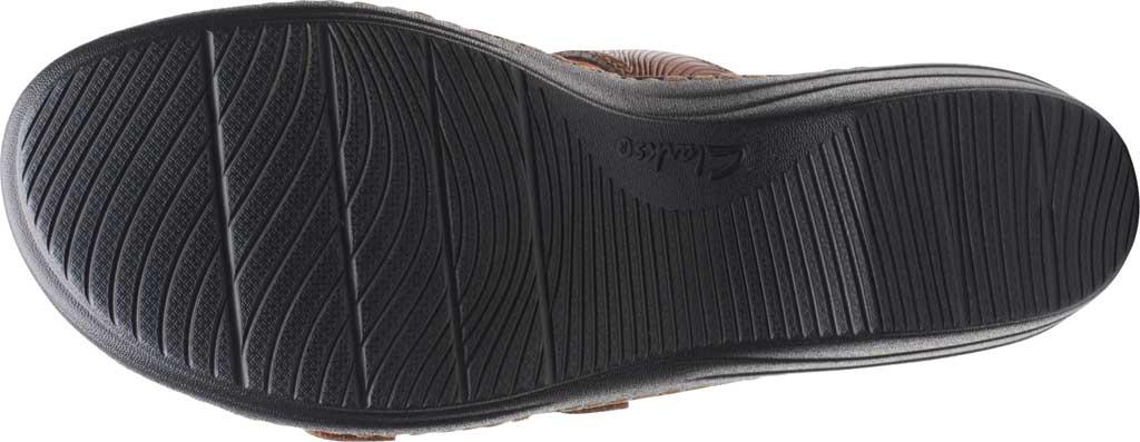 Women's Clarks Merliah Karli Wedge Slide, Tan Leather, large, image 6
