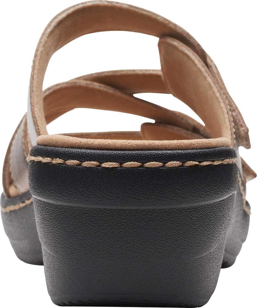 Women's Clarks Merliah Karli Wedge Slide, Metallic Leather, large, image 4