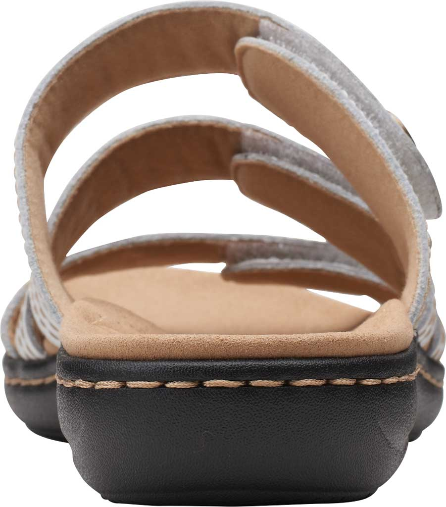 Women's Clarks Laurieann Dee Strappy Slide, White Leather, large, image 4