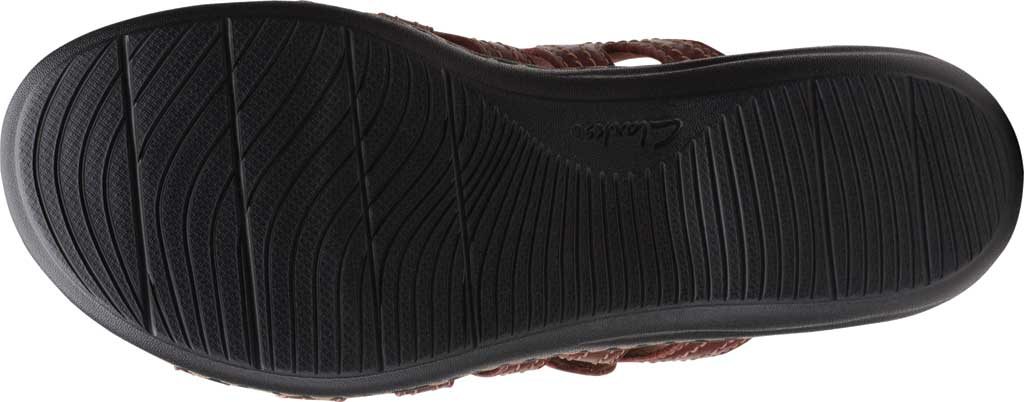 Women's Clarks Laurieann Dee Strappy Slide, Mahogany Leather, large, image 6