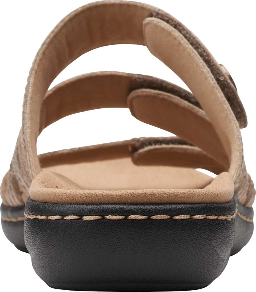 Women's Clarks Laurieann Dee Strappy Slide, Metallic Leather, large, image 4