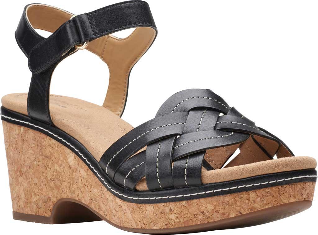 Women's Clarks Giselle Coast Ankle Strap Wedge Sandal, , large, image 1