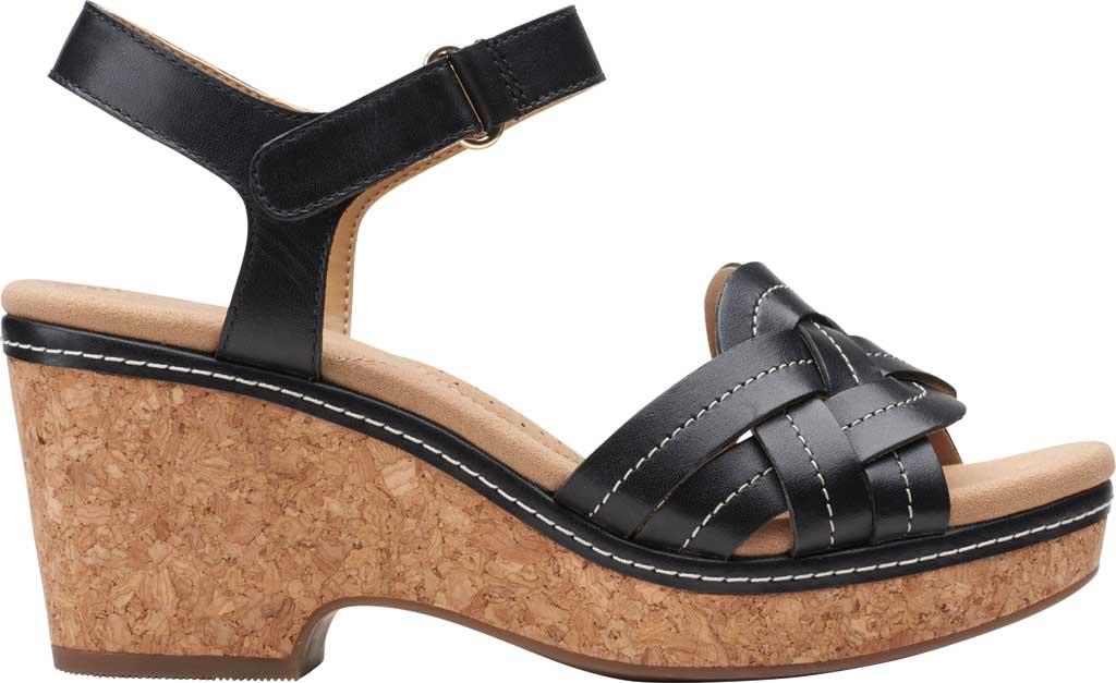 Women's Clarks Giselle Coast Ankle Strap Wedge Sandal, , large, image 2