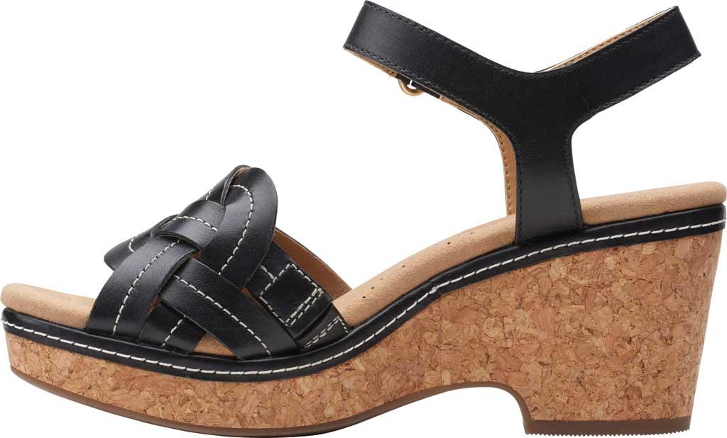 Women's Clarks Giselle Coast Ankle Strap Wedge Sandal, , large, image 3