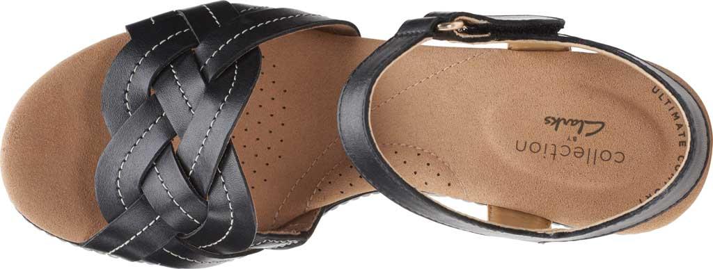 Women's Clarks Giselle Coast Ankle Strap Wedge Sandal, , large, image 5