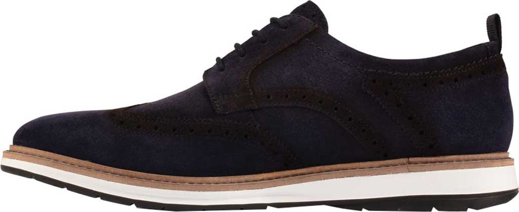 Men's Clarks Chantry Wing Tip Oxford, Navy Suede, large, image 3