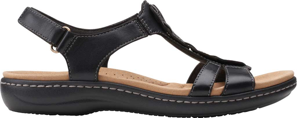 Women's Clarks Laurieann Kay Strappy Slingback Sandal, Black Leather, large, image 2