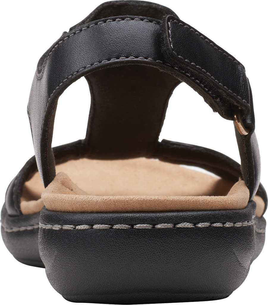 Women's Clarks Laurieann Kay Strappy Slingback Sandal, Black Leather, large, image 4