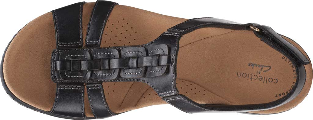 Women's Clarks Laurieann Kay Strappy Slingback Sandal, Black Leather, large, image 5